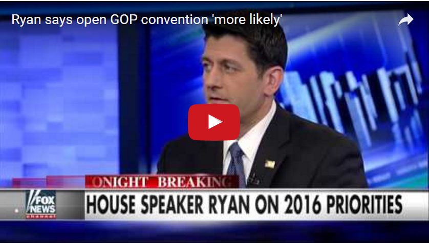 Ryan says open GOP convention